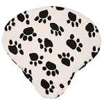 Dog Paw White Seat Cover - Cruiser Candy