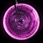 WheelGlow Wheel Lights - Purple Spoke Lights