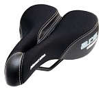 "Women's - 6"" Pressure Relief Comfort Sport 6.25W x 9.5L Black Bicycle Seat"