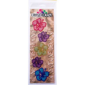 Cruiser Candy Decals Rhinestone Flowers- Bling Your Bike!